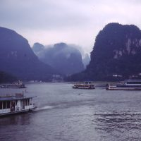 Li River and Mountains near Guilin 1998