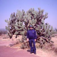 Michael Lyons at Tula (ancient site) near Tultepec, Mexico 2004