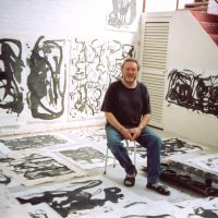 Michael Lyons at Bei Gao Studio, Redgate Gallery Residency, Beijing, China 2002