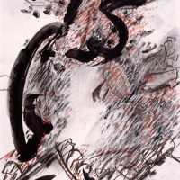 'The Dragon Light Series' charcoal, acrylic, pastel on paper 59.5 x 41.5cm 1998