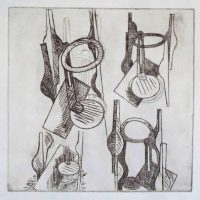 Drypoint 19.5 x 19.5cm (edition of 4) 1974/5
