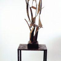 'Resonance of Egypt: Hathor' waxed steel 208 x 66 x 70cm 1994. Artist's collection