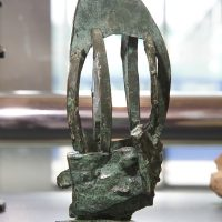 'Green Bronze XIII' bronze 16.5 x 6.5 x 6.5cm 1991. Artist's collection