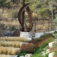 'Fènix Balears' corten steel 600cm high 2015. Private Collection, Palma, Mallorca