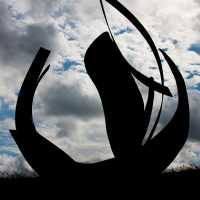 'Trade Wind' rusted steel 610 x 549 x 244cm 1992. Collection: Sentul City Park, Bogor, Indonesia