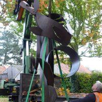 Matt Fairley unloading 'Cavalcade' 2015